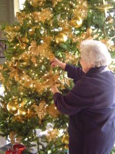 Christmas tree decorting
