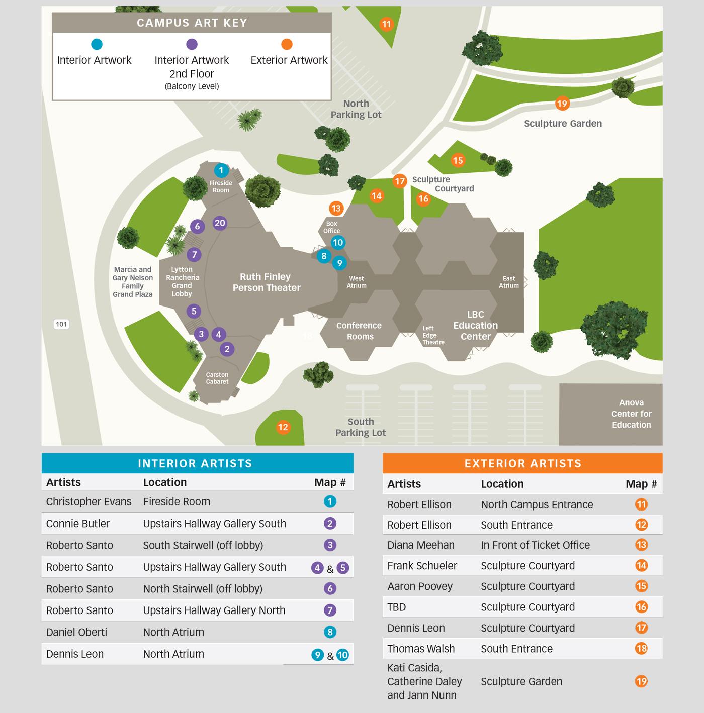 We Invite You To Use The Map Below For A Self Guided Tour Of Our Collection May Also Printable Version